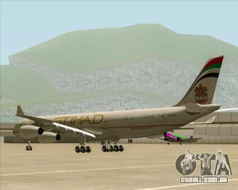 Airbus A340-313 Etihad Airways para GTA San Andreas vista direita