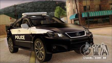 Lexus IS-F 2009 Police para GTA San Andreas