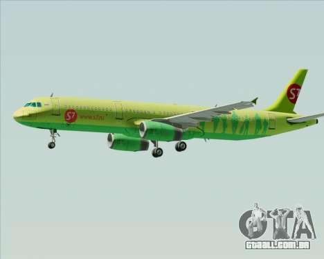 Airbus A321-200 S7 - Siberia Airlines para as rodas de GTA San Andreas
