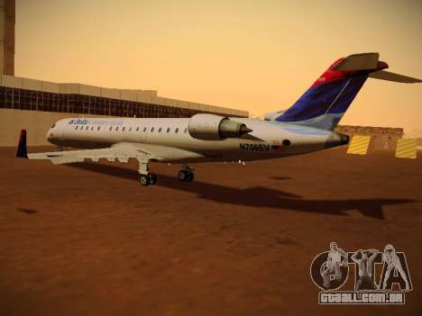 Bombardier CRJ-700 Delta Connection para GTA San Andreas traseira esquerda vista