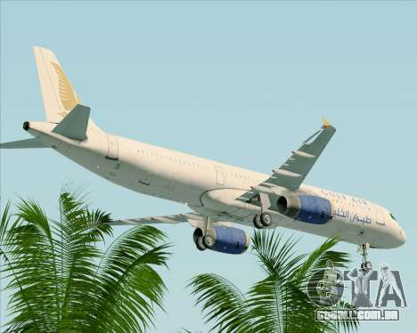 Airbus A321-200 Gulf Air para GTA San Andreas vista superior