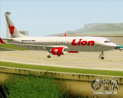 Boeing 737-800 Lion Air para GTA San Andreas vista interior