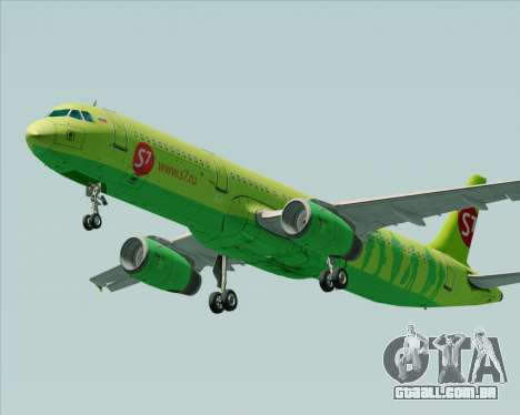 Airbus A321-200 S7 - Siberia Airlines para GTA San Andreas vista interior