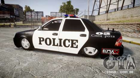 VAZ-2170 Priora Police para GTA 4 esquerda vista