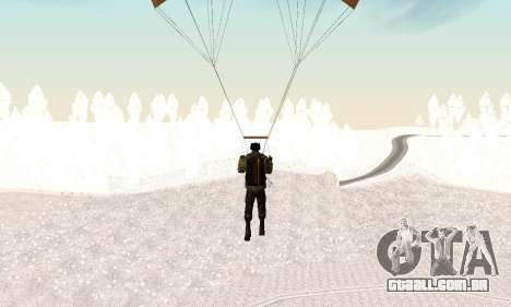 New parachute para GTA San Andreas por diante tela