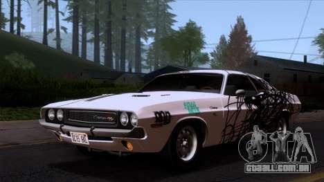 Dodge Challenger 426 Hemi (JS23) 1970 (HQLM) para GTA San Andreas vista superior