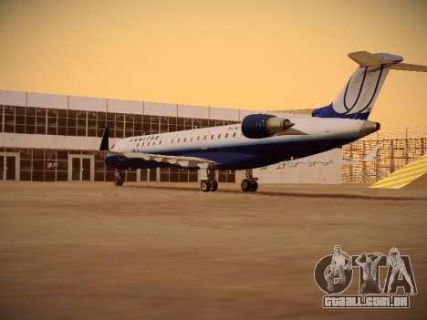 Bombardier CRJ-700 United Express para GTA San Andreas vista direita