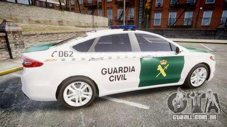 Ford Mondeo 2014 Guardia Civil Cops [ELS] para GTA 4 esquerda vista