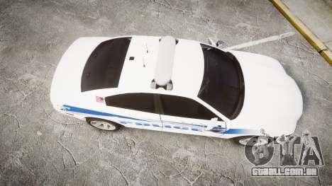 Dodge Charger RT 2013 PS Police [ELS] para GTA 4 vista direita