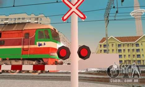 Novas texturas para o tráfego ferroviário para GTA San Andreas segunda tela