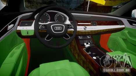 Audi A8 Limousine para GTA 4 vista interior