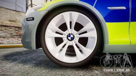 BMW 530d F11 Metropolitan Police [ELS] para GTA 4 vista de volta