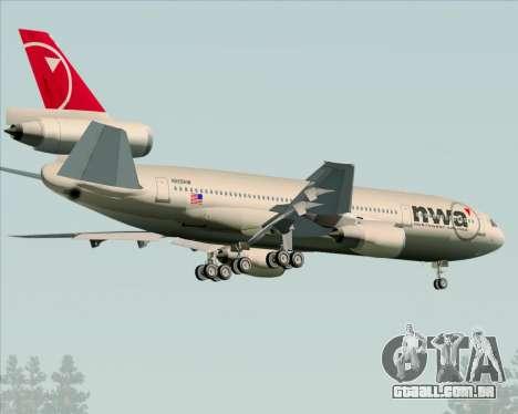 McDonnell Douglas DC-10-30 Northwest Airlines para GTA San Andreas vista direita