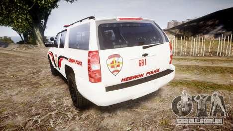 Chevrolet Suburban 2008 Police [ELS] Red & Blue para GTA 4 traseira esquerda vista