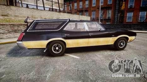 Oldsmobile Vista Cruiser 1972 Rims2 Tree1 para GTA 4 esquerda vista