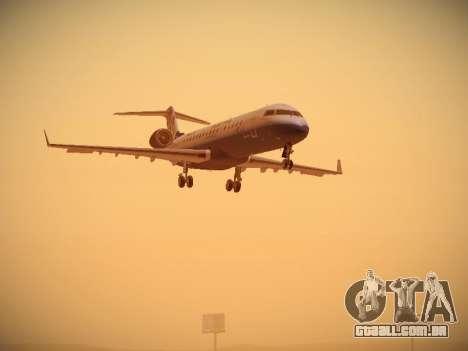 Bombardier CRJ-700 United Express para GTA San Andreas esquerda vista