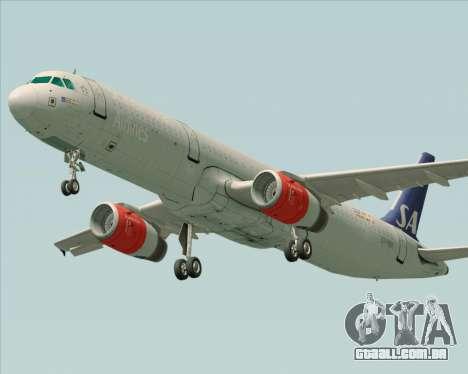 Airbus A321-200 Scandinavian Airlines System para GTA San Andreas esquerda vista