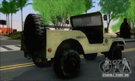 Jeep From The Bureau XCOM Declassified para GTA San Andreas esquerda vista