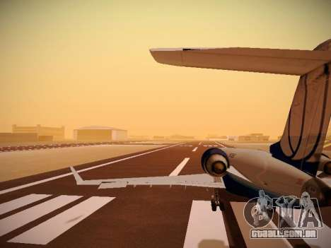 Bombardier CRJ-700 United Express para as rodas de GTA San Andreas