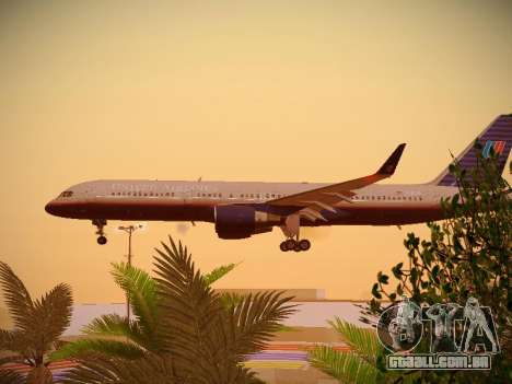 Boeing 757-224 United Airlines para GTA San Andreas vista interior