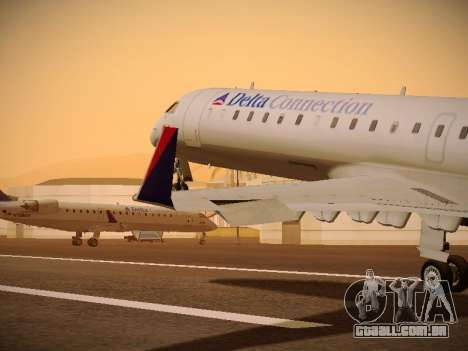 Bombardier CRJ-700 Delta Connection para GTA San Andreas interior