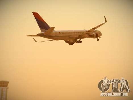 Boeing 757-232 Delta Airlines para GTA San Andreas vista inferior