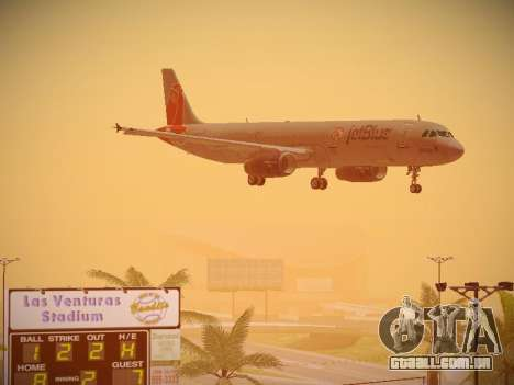 Airbus A321-232 jetBlue Boston Red Sox para GTA San Andreas vista superior