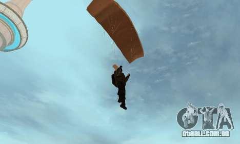 New parachute para GTA San Andreas quinto tela