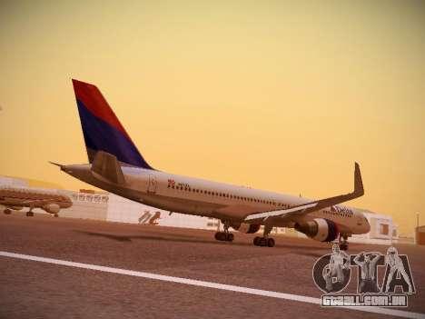 Boeing 757-232 Delta Airlines para GTA San Andreas vista direita