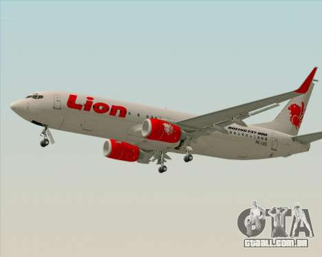 Boeing 737-800 Lion Air para GTA San Andreas esquerda vista
