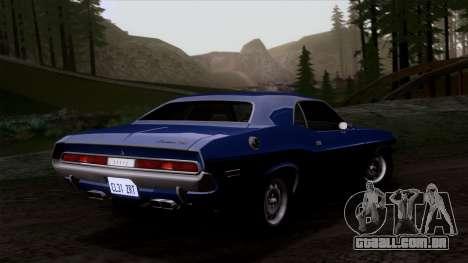 Dodge Challenger 426 Hemi (JS23) 1970 (HQLM) para GTA San Andreas vista interior