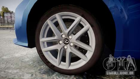 Lexus IS 350 F-Sport 2014 Rims1 para GTA 4 vista de volta