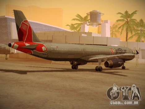 Airbus A321-232 jetBlue Boston Red Sox para GTA San Andreas vista direita