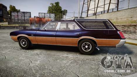 Oldsmobile Vista Cruiser 1972 Rims2 Tree2 para GTA 4 esquerda vista
