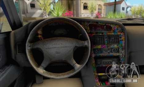 Proton Wira Slammed para GTA San Andreas traseira esquerda vista