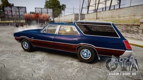 Oldsmobile Vista Cruiser 1972 Rims2 Tree4 para GTA 4 esquerda vista