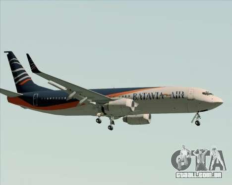 Boeing 737-800 Batavia Air (New Livery) para GTA San Andreas vista traseira