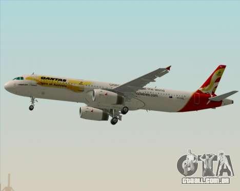 Airbus A321-200 Qantas (Wallabies Livery) para o motor de GTA San Andreas