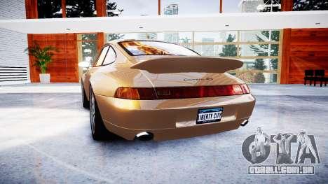 Porsche 911 Carrera RS 993 1995 para GTA 4 traseira esquerda vista