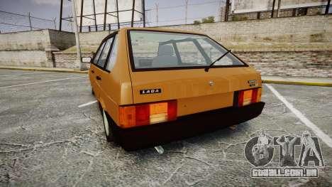VAZ-2109 1500 eu para GTA 4 traseira esquerda vista