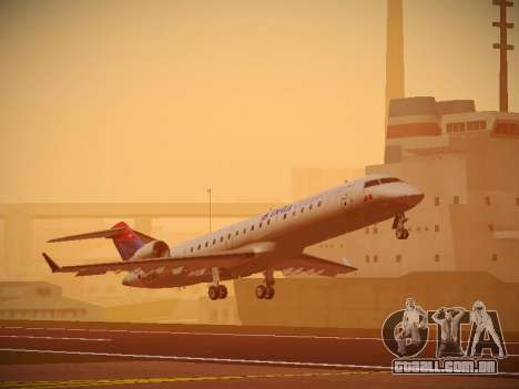 Bombardier CRJ-700 Delta Connection para GTA San Andreas esquerda vista