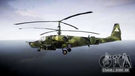 Ka-50 Black shark para GTA 4 esquerda vista