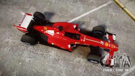 Ferrari F138 v2.0 [RIV] Alonso TFW para GTA 4 vista direita
