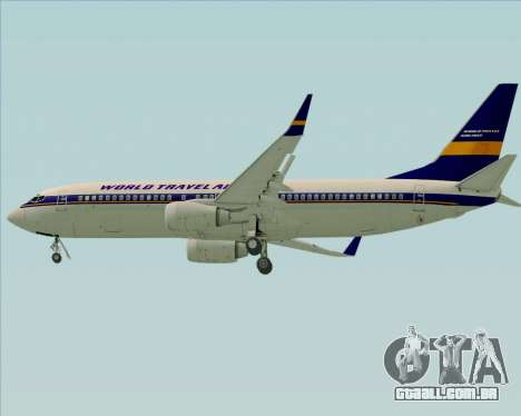 Boeing 737-800 World Travel Airlines (WTA) para GTA San Andreas vista superior