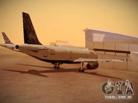 Airbus A321-232 Lets talk about Blue para GTA San Andreas vista direita