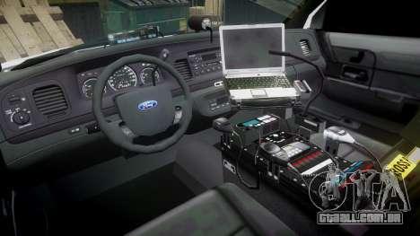 Ford Crown Victoria Unmarked Police [ELS] para GTA 4 vista de volta
