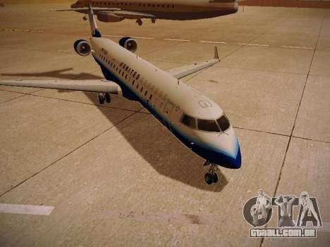 Bombardier CRJ-700 United Express para GTA San Andreas vista traseira