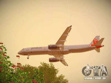 Airbus A321-232 jetBlue Boston Red Sox para o motor de GTA San Andreas