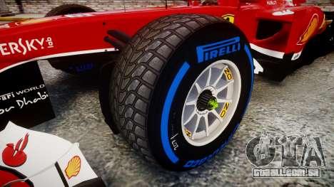 Ferrari F138 v2.0 [RIV] Alonso TFW para GTA 4 vista de volta