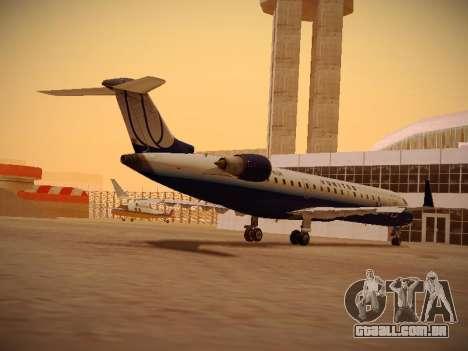 Bombardier CRJ-700 United Express para GTA San Andreas traseira esquerda vista